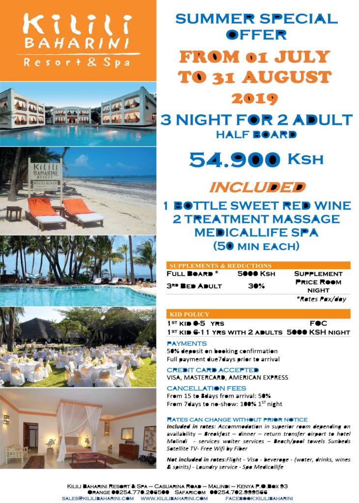 Summer 2019 special offer